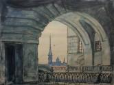 M. Dobužinskis. Žiemos kanalas Peterburge